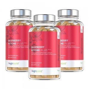 Raspberry Ketone Plus | sterk keto slankepille med kombinasjon av superfoods | 60 slanke kapsler | Kjøp 3 - få 15 % og Fri Frakt